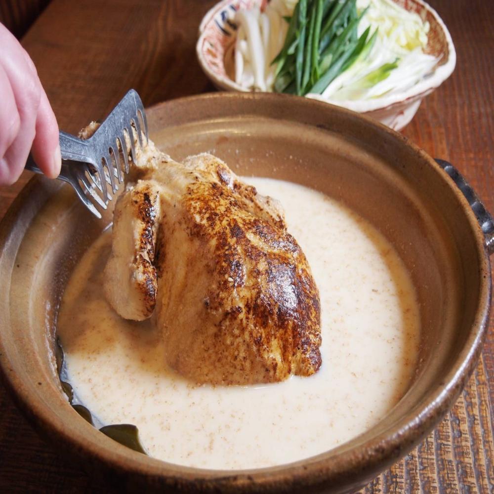 ■ネット予約限定■【華味鳥の豆乳鍋~丸ごと1羽を九条ネギで~】期間限定 8品